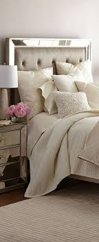 Bed,Bath and Beyond has a tone on tone natural color bed set on display and  it's beautiful. Quite elegant as this one is with the mirror and night  stand ...