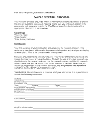 007 Example Of Research Paper Proposal Apa Template Best