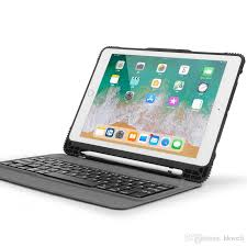 Ipad Pro 97 Case With Pencil Holder Best Removable Bluetooth Keyboard Case Drop Resistance Tpu Case With