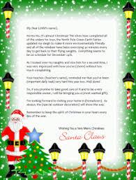 Free Printable Christmas Whimsy Santa Letter 2 Designs