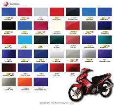 Samurai Spray Paint Colour Chart Samurai Aerosol Spray Paint 400ml Yamaha Motorcycle Colour