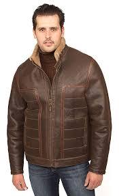 aston leather men s verrazano shearling coat rugged castano at men s clothing