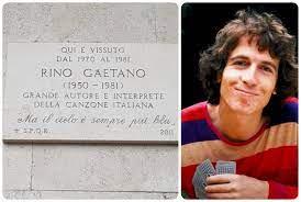 La targa di via Nomentana a Roma dove visse Rino Gaetano