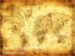 Old Map Powerpoint Template Infographics Slides