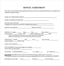 Printable Rental Agreement Template Sample Blank Rental Agreement 8 Free Documents In Pdf Word