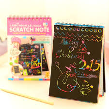 2019 whole korean stationery scratched graffiti diy homemade funny gift scratch note planner accessories notebook diary from merryseason