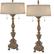 french country lighting. Aidan Gray The Grayson Gilded Lamps - Set Of Two French Country Lighting T