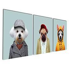 enjoyable ideas dog wall art small home decor inspiration com gardenia series 1 animal world