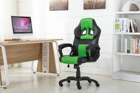 high office desk. High Back Racing Style Bucket Seat Gaming Chair Swivel Office Desk Green/Black D