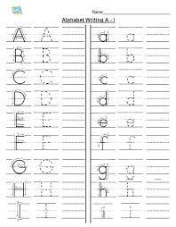 Printable Alphabet Writing Practice Sheets 10 Kindergarten Letter A Writing Practice Worksheet