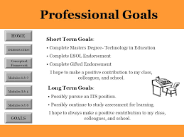 Short Term Professional Goals Traci Wallace This Portfolio Serves As Record Of The Work I