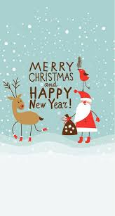 merry christmas and happy new year wallpaper. Wonderful New Merry Christmas And Happy New Year Snow Reindeer Santa In And Wallpaper E