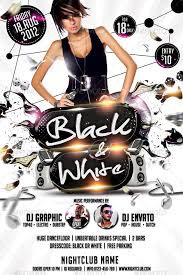 Flyer Black And White Black White Affair Flyer Template By Hermz Graphicriver