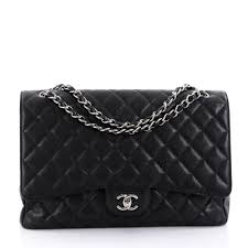 Buy Chanel Classic Single Flap Bag Quilted Caviar Maxi Black ... & Buy Chanel Classic Single Flap Bag Quilted Caviar Maxi Black 2627406 –  Trendlee Adamdwight.com