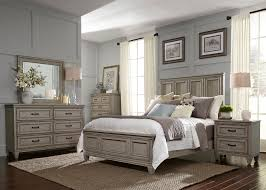 Liberty Furniture Bedroom Liberty 4 Piece Grayton Grove Panel Bedroom Set In Driftwood