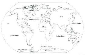 World Map Coloring Pages Printable World Map Coloring Pages