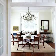 how to decorate your dining pleasing room rug round table size