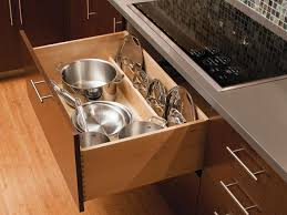 Kitchen. Sliding Kitchen Cabinet Storage ...