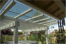 clear roof panels pergola patio roof