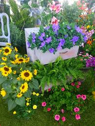 garden junk planter creative ideas from wooden chest of drawers