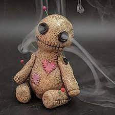 Đèn đốt hương hình búp bê Voodoo bằng nhựa resin trang trí nội thất - Tượng