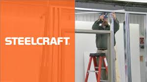 Decorating hollow metal door frames pictures : How to Install a Steel Door Frame in Steel Stud Construction - YouTube