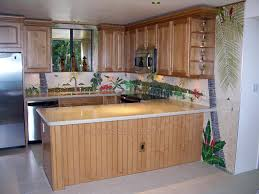 hawaii kitchen design tropical tile murals