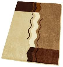 non slip small modern brown bath rug