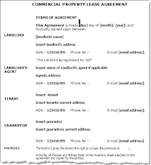 Standard Commercial Lease Agreement Business Rental Contract Template Commercial Lease Agreement