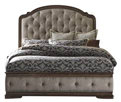 liberty amelia queen upholstered panel bed in antique toffee 487 br qub