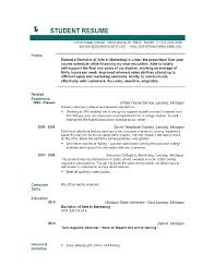 Free Resume Templates For Word 2010 Inspiration Student Resume Templates Microsoft Word Yomm