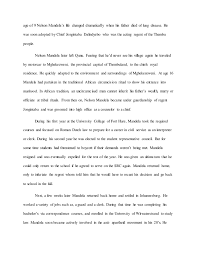 essay at the 2 age of 9 nelson mandela s