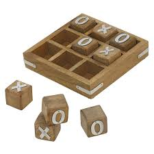 Wooden Naughts And Crosses Game Buy Wooden Noughts and Crosses Tic Tac Toe Pedagogical Board Games 66
