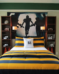 Teen Boys Room Design Ideas, Pictures, Remodel, And Decor   Page 7     Jr  Two Bookshelves As Bedside Tables With Wall Lighting Attached OH WOW!