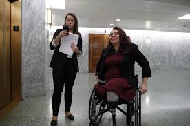 She lost both of her legs while … Tammy Duckworth Becomes First Us Senator To Give Birth While In Office State Region Thesouthern Com