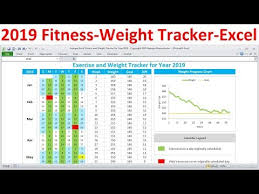 Exercise Tracking Chart Excel Fitness Tracker And Weight Loss Tracker For 2019 Workout