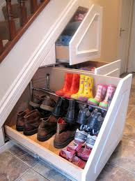 Funny pictures about Stair shoe storage. Oh, and cool pics about Stair shoe  storage. Also, Stair shoe storage.