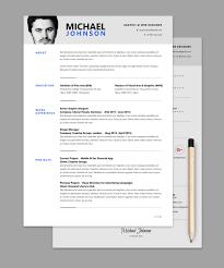 resume cv psd template graphicsfuel resume template