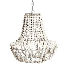white wood bead chandelier the myrvold residence pertaining to ideas 15