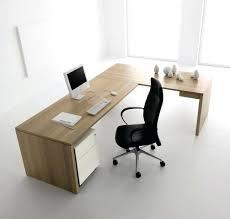 simple office table design. Simple Office Desk Design With L Shape Freestanding Oak  Beige Computer Table I