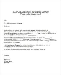 6 Credit Reference Letter Templates Free Sample Example Awesome ...