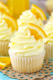 mimosa cupcakes a chagne cupcake with orange frosting great for new years