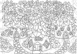 Printable coloring pages & activities for kids and family. Fairy Garden Coloring Page House Of Fairies Digital Etsy