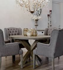 dining tables astonishing round grey dining table grey round dining intended for luxurious linen dining room nail studded dining chairs modern