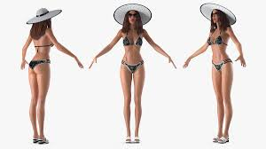 beach style clothes t pose 3d model