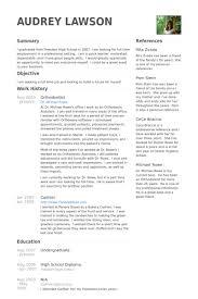 Orthodontist Resume Samples Visualcv Resume Samples Database