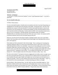 how to write a complaint letter that gets results helpful hints awesome customer complaint letter to tim horton s regarding their dreadful coffee
