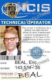 La Tv Angeles Series Prop Replica - Beal Id Ncis Eric Ncis Los Card