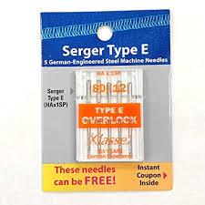 Klasse 5 Pk Hax1sp 15x1sp Home Serger Overlock Needles Size 80 12