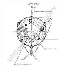 66021605 alternator product details prestolite leece neville 66021605 rear dim drawing